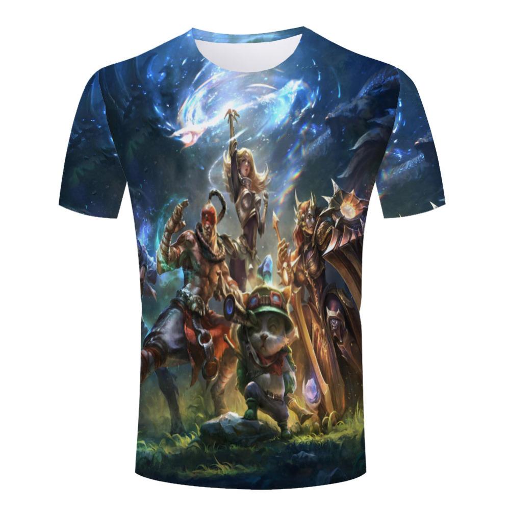 3d printing lol t shirt cool printed clothes game shirts for Printing on a shirt