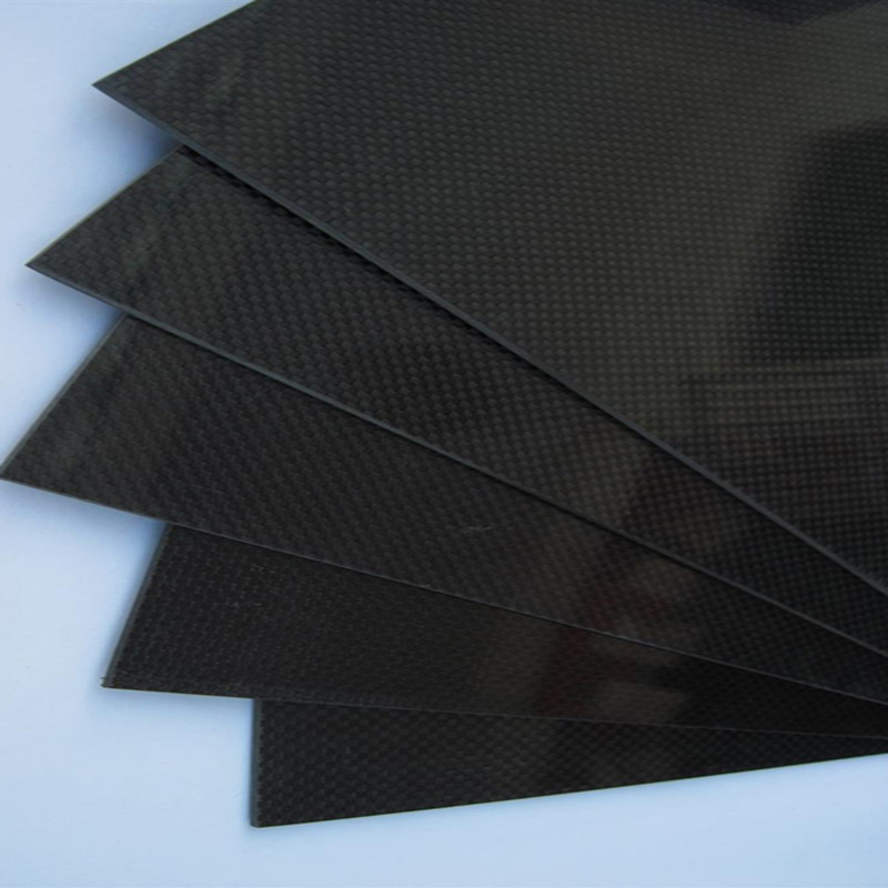 1pcs 300x500x0.3mm Carbon Fiber Plate Panel Sheet 3K Plain Weave Gloosy Surface(China (Mainland))