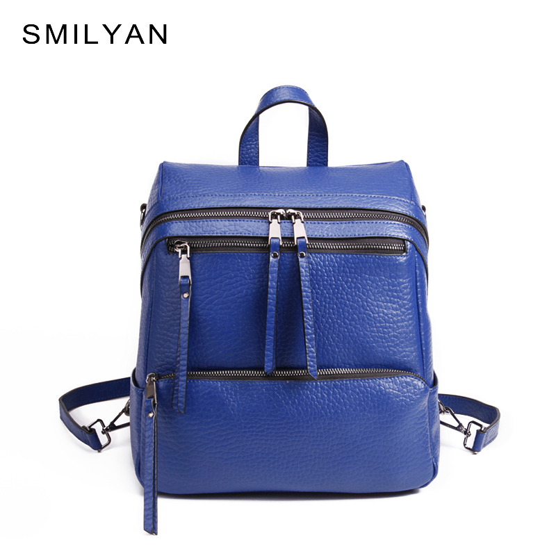 Smilyan brand genuine leather women backpack school casual travel female backpacks vintage big capacity mochila high quality <br><br>Aliexpress