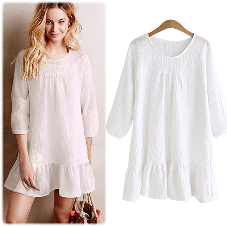 Buy cotton maxi white shirt casual dress Buy white dress shirt