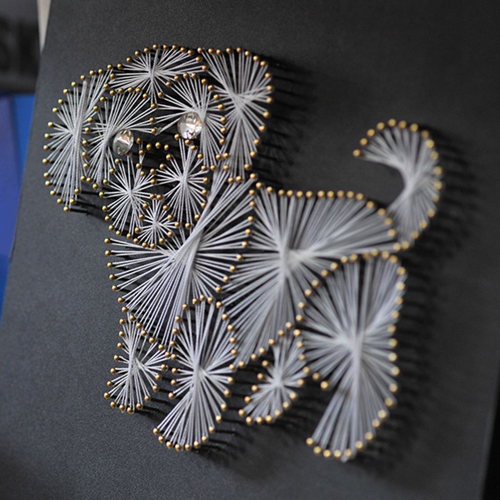 DIY Crafts String Art Kits Funny Animal Dog Pattern Painting For Kids  Adults Beginners Home Decor