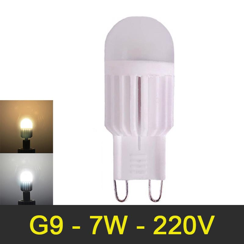 Mini G9 LED Lamp 7W AC220V Lampada LED G9 Light Bulb High Power Chandelier Lamps Dimmable Replace Halogen Floodlight 6pcs/lot<br><br>Aliexpress