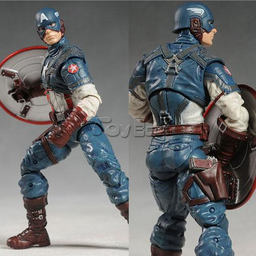 Marvel Super Hero Series Avengers Captain America 20cm Action Figure PVC Model Collectible Toy - Toyben Mall store