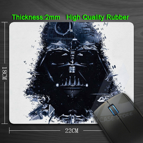 Free Shipping Iron Star Wars Silicon Anti-slip Mouse Mats for PC Computer Laptop Notbook Gaming Mouse mat(China (Mainland))