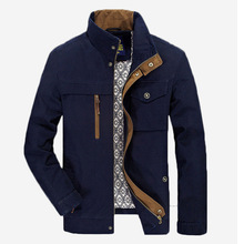 New autumn AFS JEEP Jacket military jacket men pockets stand collar medium long plus size 4xl casual coat men AFS JEEP(China (Mainland))