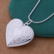 Free Shipping Silver plated Necklaces Pendants Fashion Silver Jewelry Surface patterns heart cmyalefa dzkamqra AN736