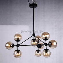 Hot sale Black twisted cable Unique 10 lights American Style magic bean Pendant Light  Vintage Decoration Pendant Lamp(China (Mainland))