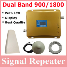 Hot Sell 1 set LCD Display !!! Dual Band Repeater Amplifier, GSM Repeater Dual Band 900 1800, Signal Repeater Booster Amplifier(China (Mainland))