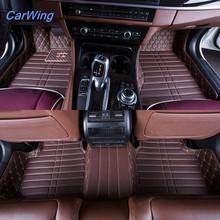 Top Quality Leather Car Floor Mats Carpet Set On Front,Mid and Back For AUDI A3 A4 A6 Q3 Q5 Q7(China (Mainland))