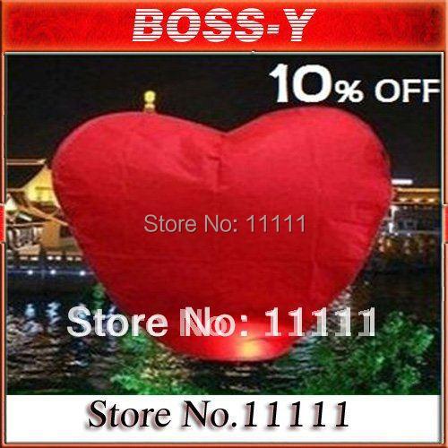 Wholesale 10pcs/lot Heart Shaped Chinese Sky Lantern & Kongming Lantern & Loving Lantern(China (Mainland))