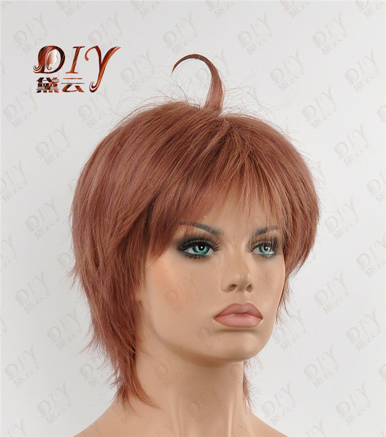 free shipping USPS to USA Russia Straight Short Silky Wig Heat Resistant Women Cosplay Hair + Free Cap 1716-26(China (Mainland))