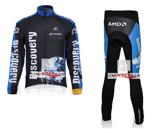 Free shipping!!! 2007 DISCOVERY long sleeve cycling wear clothes bicycle/bike/riding jerseys+pants sets