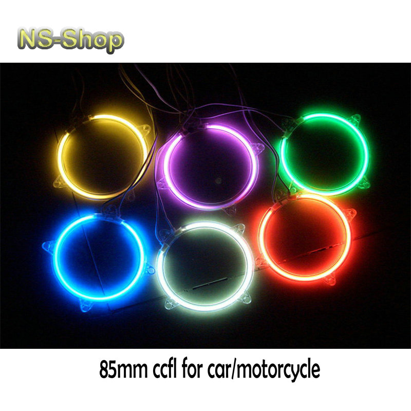 Super bright 85mm ccfl headlights Angel Eyes Red Blue Yellow White Purple RGB Acrylic Halo Ring with Inverter for car motorcycle(China (Mainland))