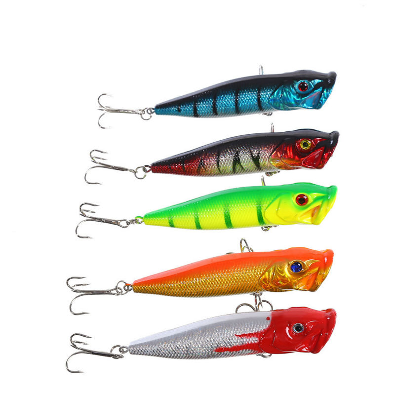Brand New Floating Saltwater Artificial Type Popper Lure Sea Fishing Tackle Wobbler Ocean Boat Fly Carp Lures 3D Eyes Hard Bait(China (Mainland))