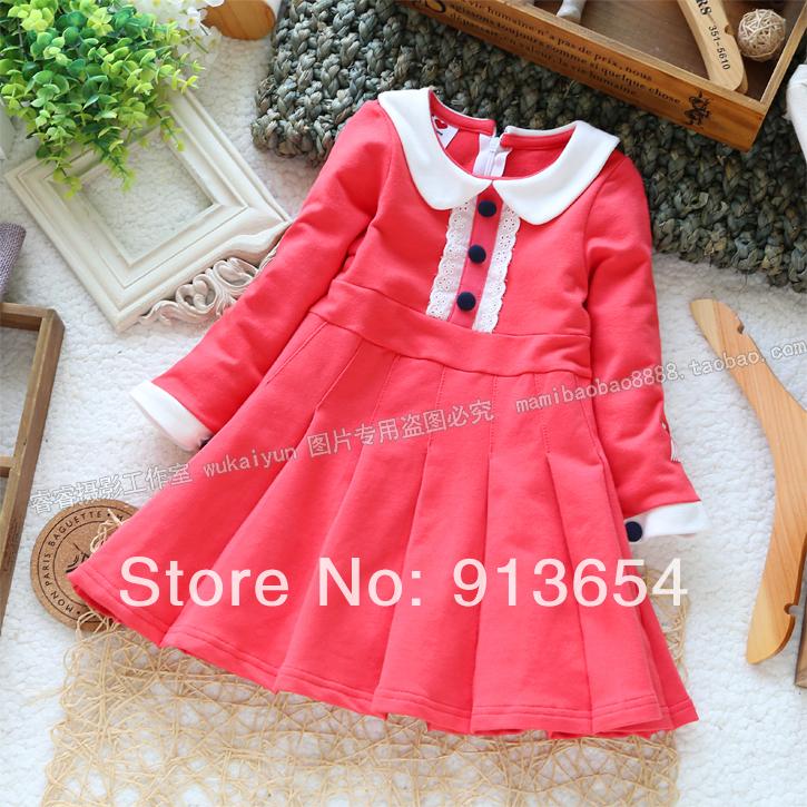 Childrens clothing child autumn one-piece dress baby skirt princess dress kids skirt female child jersey child basic shirt<br><br>Aliexpress