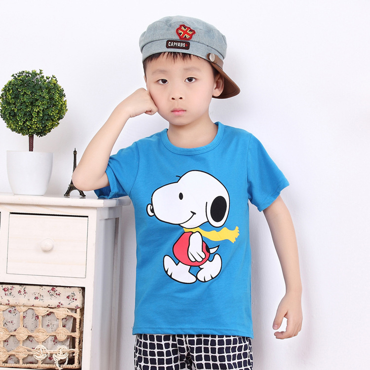 boys tshirt 2016 new style baby boy's t shirt kids cartoon children t shirts boys clothes kids clothes charlie dog(China (Mainland))
