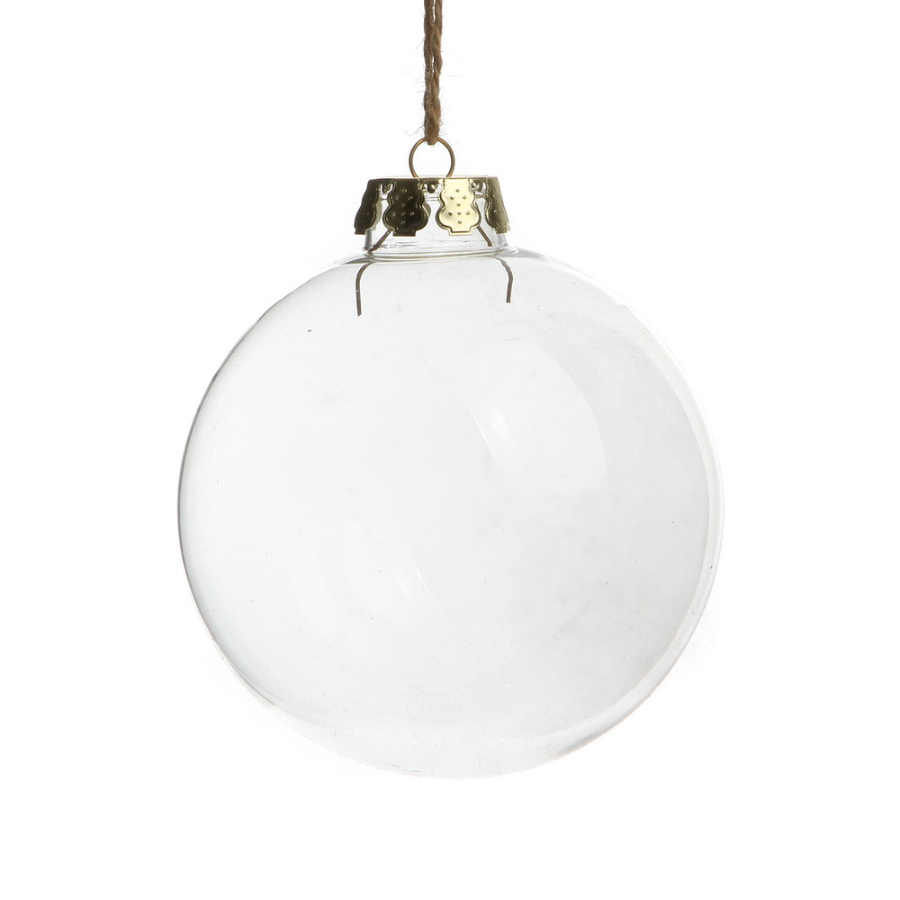 Clear Glass Christmas Ball Ornaments