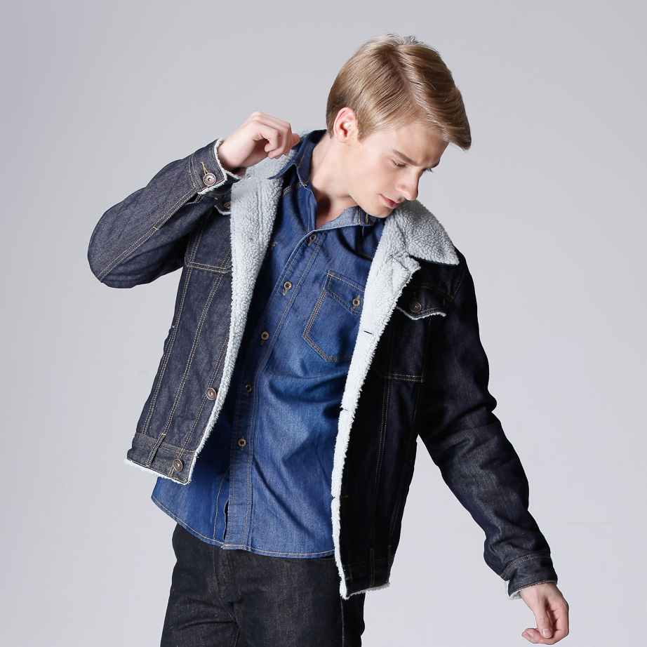 Europe And Usa Style Winter Mens Jeans Jacket With Extra