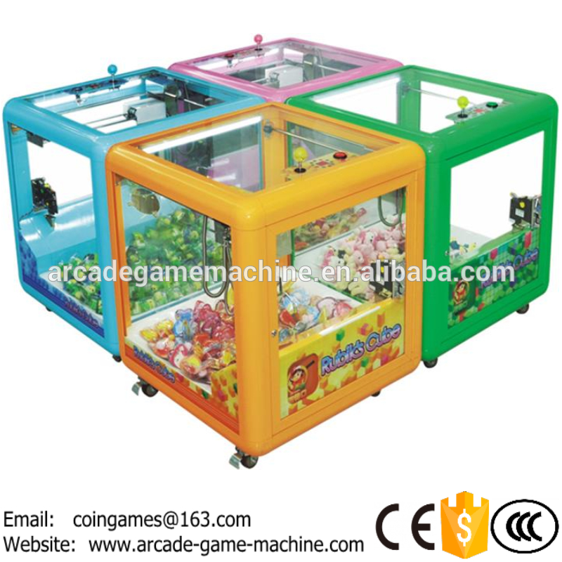 2016 New Amusement Equipment Arcade Kids Children Square Coin Operated Vending Games Gift Toy Mini Crane Claw Machine For Sale(China (Mainland))