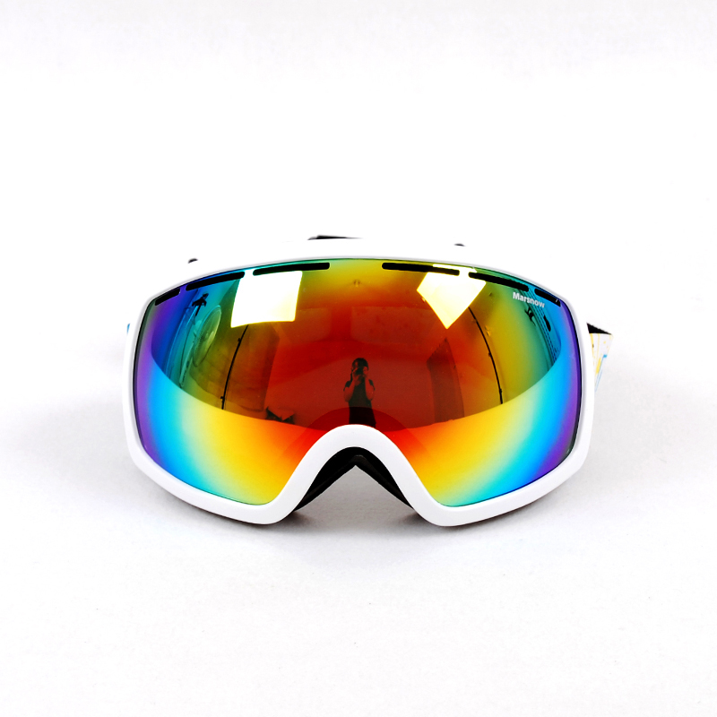 High Quality 2015 Hot Sale ski goggles double lens anti-fog big spherical professional ski glasses unisex multicolor snowgoggles(China (Mainland))