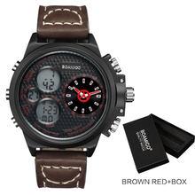Relojes de cuarzo de marca BOAMIGO para hombre, relojes de cuero marrón deportivos de moda, relojes de pulsera de regalo a prueba de agua, reloj masculino(China)