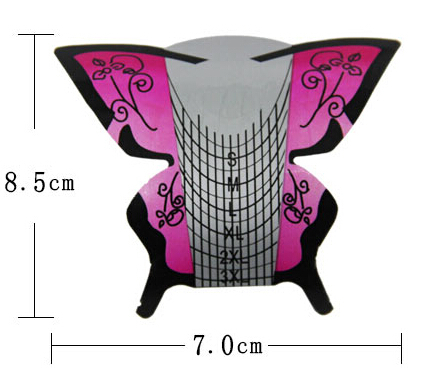 Wholesale 2015 NEW self-adhesive 300PCS Nail Art Form/Professional Butterfly Nail Form Manufacturer. WT014(China (Mainland))