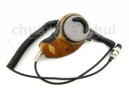 20pcs 4 Pins Woodgrain Noise Canceling Microphone Speaker for US Radio Cobra Walkie talkie two way CB Ham Radio(China (Mainland))