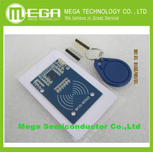 !!! With  tracking number , MFRC-522 RC522 RFID RF IC card inductive module with free S50 Fudan card key chain