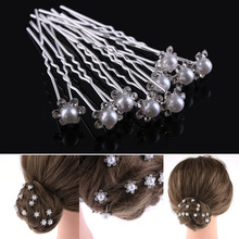 Buy 20pcs/pack Wedding Bridal Pearl Hairpins Flower Crystal Rhinestone Diamante Hair Pins Hair Clips Bridesmaid Women Hair Jewelry for $1.76 in AliExpress store