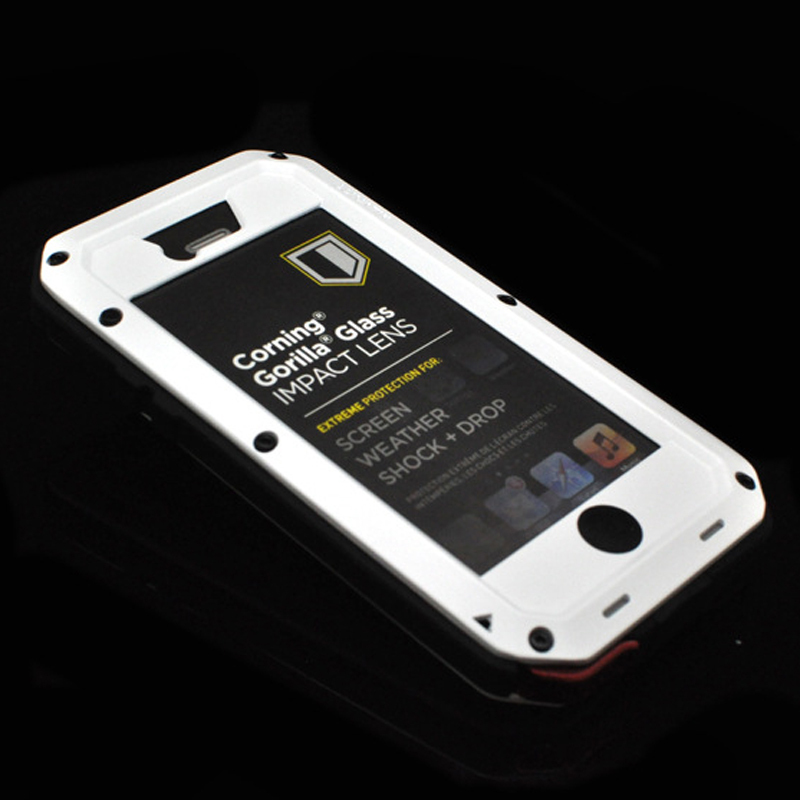 Ultimate Protection Original Water/Dirt/ Shockproof Aluminum Metal Case with Tempered Gorilla glass Case for iPhone 5 5s(China (Mainland))
