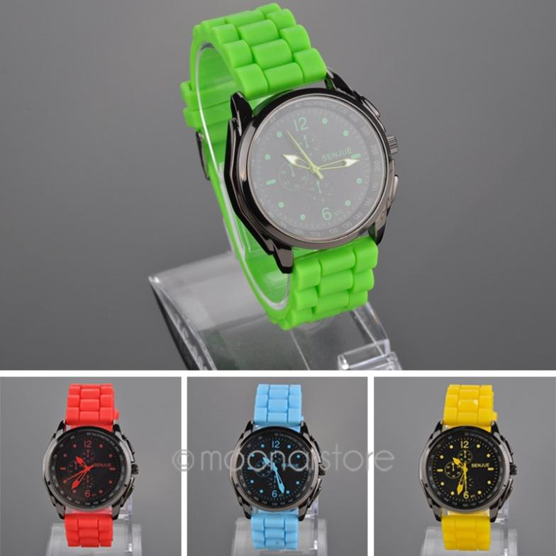 Promotion! 1 Pcs Fashion Colorful Silicone Band Men Clocks Male Quartz Watch Casual Sports Wristwatches Watches JL*MPJ640#Y6(China (Mainland))