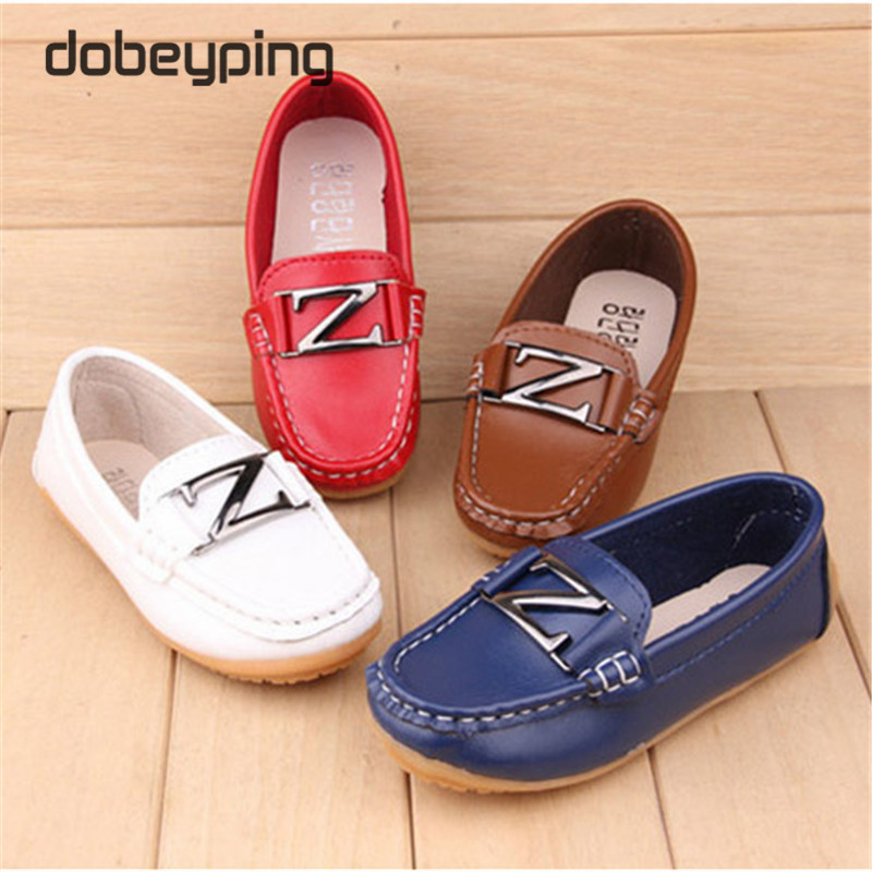 Children's Shoes Boys Girls Breathable Slip-On Fashion Casual Sneakers Kids Unisex Cow Muscle Sole Loafers Moccasins Child Shoes(China (Mainland))