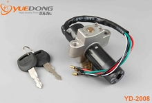 YUEDONG High Quality ZH125 motorcycle ignition switch for SYM parts Black color Aluminum Material Motorcycle spare parts(China (Mainland))