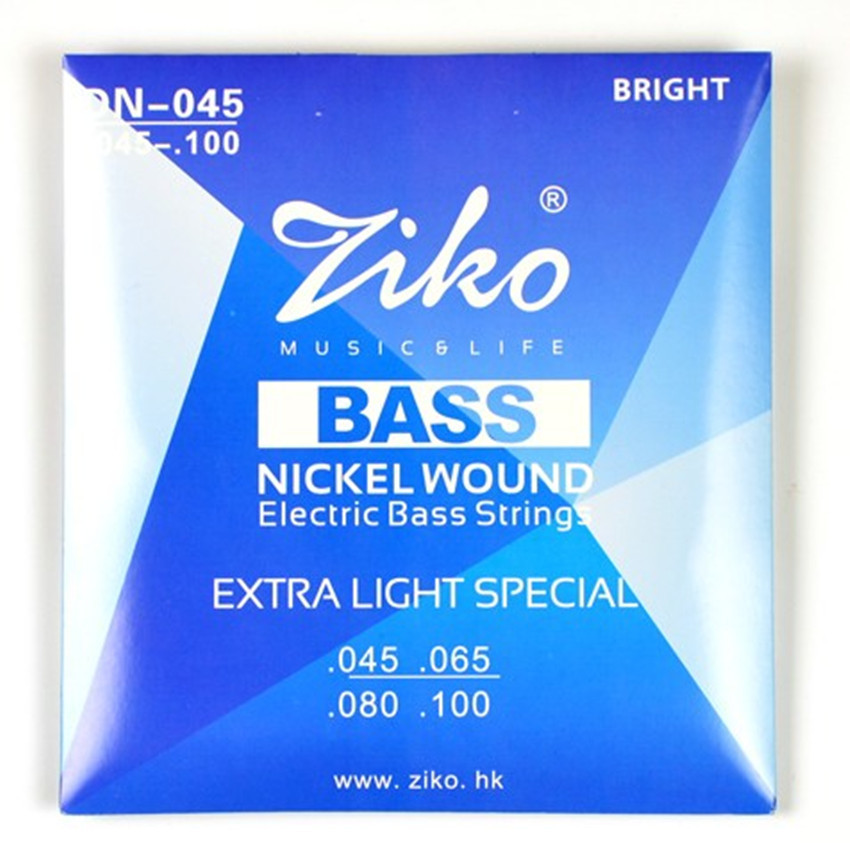 Electric Bass Strings 4 Nickel Wound Ziko Extar Light Special Bass Guitar Strings(China (Mainland))