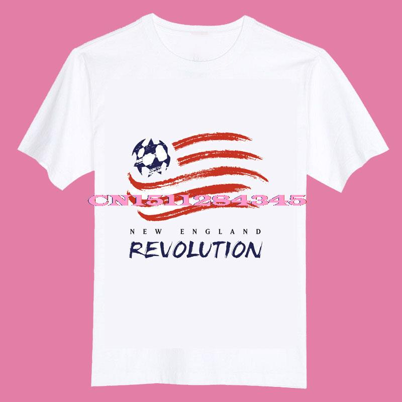 2015 New england revolution logo Kids children girls boys O Neck Cotton Camiseta Camisetas Unisex T Shirt(China (Mainland))