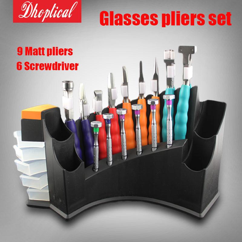 Здесь можно купить  glasses plier set ,9 pcs matt pliers 6 different screwdriver good quality  Одежда и аксессуары