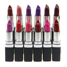 High Quality 1pc Lipsticks Long-lasting Beauty Makeup Sexy Purple 12 Colors Waterproof Pink Lip Red Cosmetic