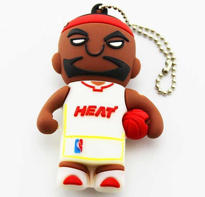 Basketball player cartoon usb flash drive Pen Drive 4gb 8gb 16gb 32gb 64gb Robot gift Memory storage usb stick(China (Mainland))