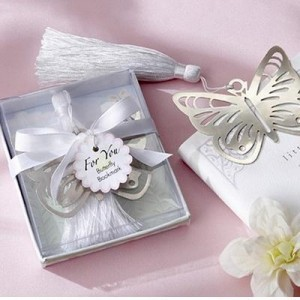 (Mix Min order $10) Elegant ribbons boxes of high quality alloy bookmarks - butterfly(China (Mainland))