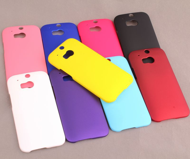 High Quality Matte pure color plastic hard phone cover for HTC ONE M8 case Mobile phone case protection shell for HTC ONE M8(China (Mainland))
