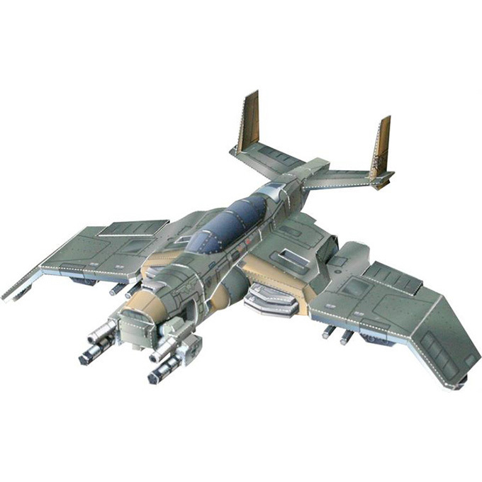3D Paper Model Airplane Game Warhawk Fighter DIY Finished Size About 20cm Handmade Paper Toy(China (Mainland))
