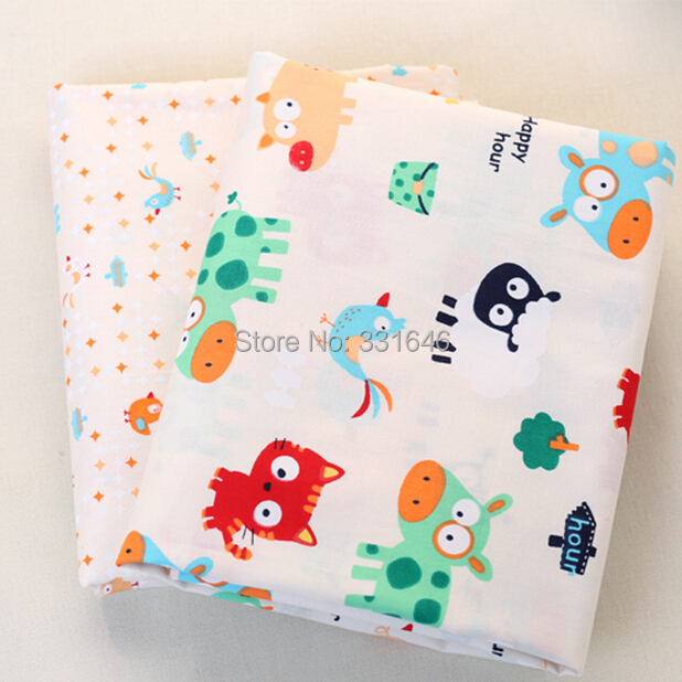 160*50cm Lovely Cartoon Animal Cotton Patchwork Fabric Telas DIY Quilting Baby Toy Tissu Tilda Sewing Bedding Textil Tecido - Amy Handmade Store store