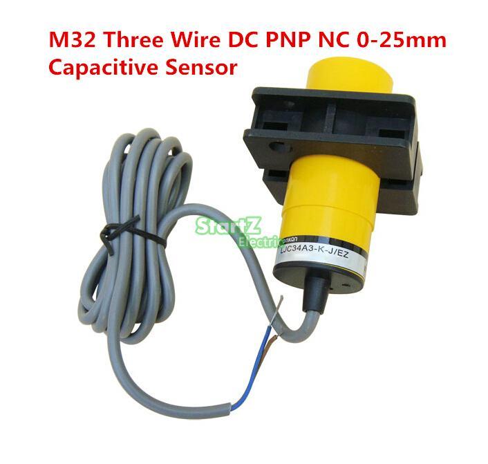 M32 Три Провода DC PNP NC 0-25 мм расстояние измерения емкостной датчик приближения-LJC34A4-KZ/AY 1pcs m12 dc three wire pnp nc 4mm distance measuring inductive proximity switch sensor lj12a3 4 z ay 3d0214