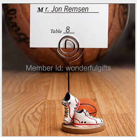 wedding party decoration -- Basketball or football Themed shoes Place name Card Holders Sport Theme 100pcs/lot(China (Mainland))