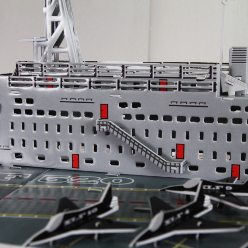 Deluxe Edition 3D Puzzle Paper Craft Aircraft Carrier DIY 3D Puzzle Aircraft Carrier Model Educational Toy ARCHITECTURE(China (Mainland))