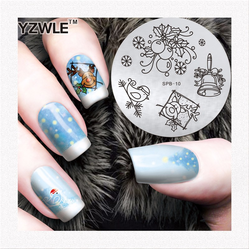 YZWLE Brand new 30 styles polish printing nail stamping with great price
