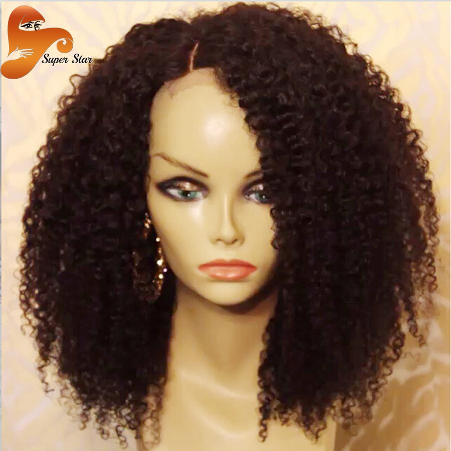 8A Mongolian Kinky Curly Full Lace Human Hair Wigs For Black Women Virgin Glueless Full Lace Wig Afro Kinky Curly Front Lace Wig<br><br>Aliexpress