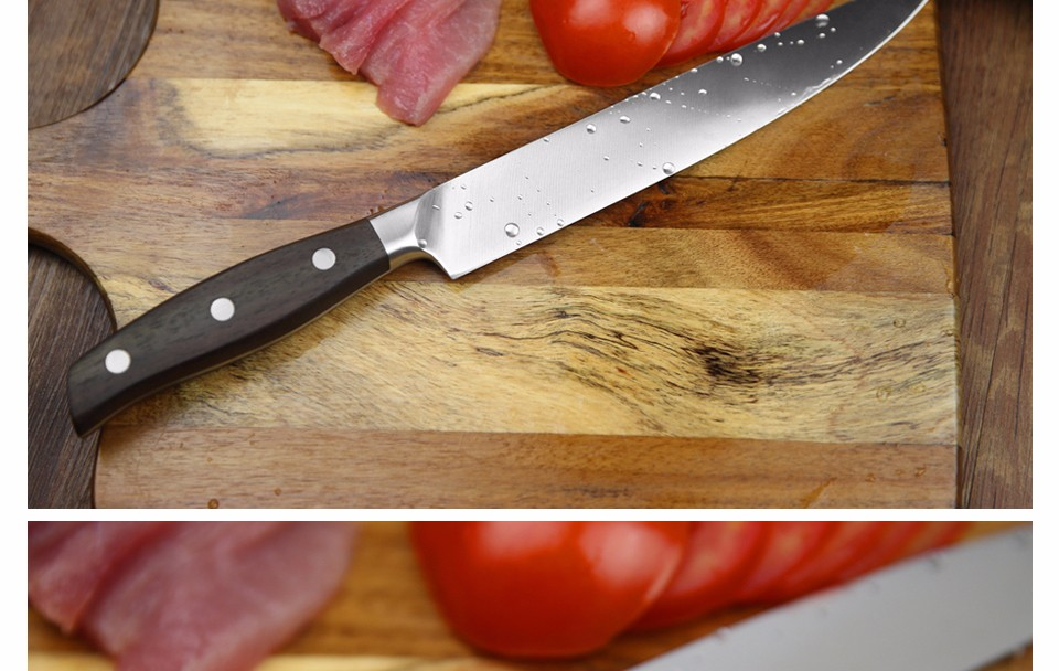 Buy XINZUO 8 inch cleaver knife GERMAN DIN1.4416 stainless steel kitchen knives with rosewood handle sashimi knife free shipping cheap