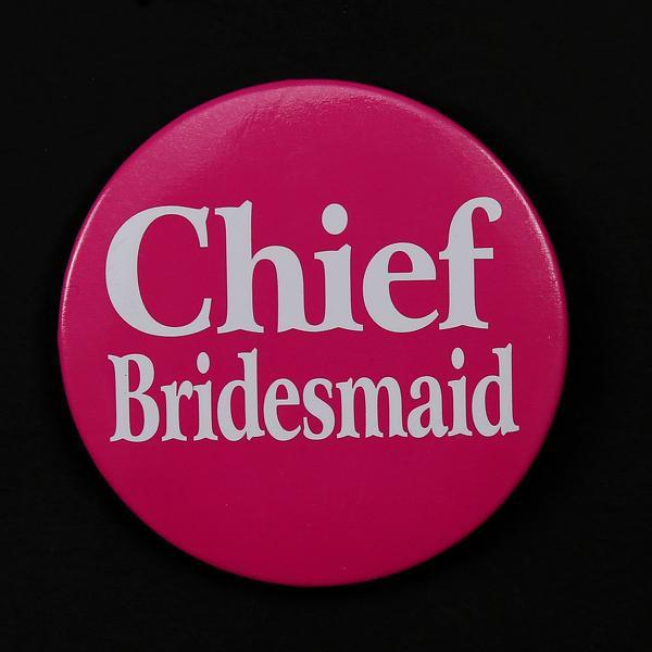 Bridal love Chief bridesmaid badge 5.8cm wedding button event party favors Sex Products warmly Bachelorette party hen night(China (Mainland))