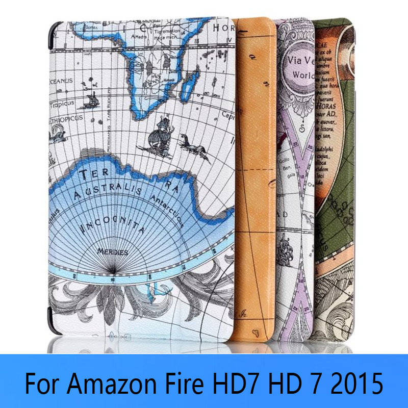 Custer Smart Case Cover For Amazon new Fire 7 2015 tablet cover cases for new kindle fire 7 2015